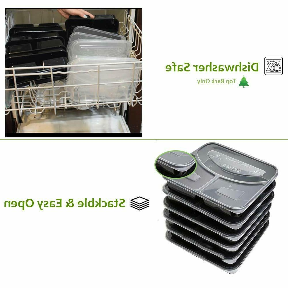 20 with Lids Meal Containers Food Box