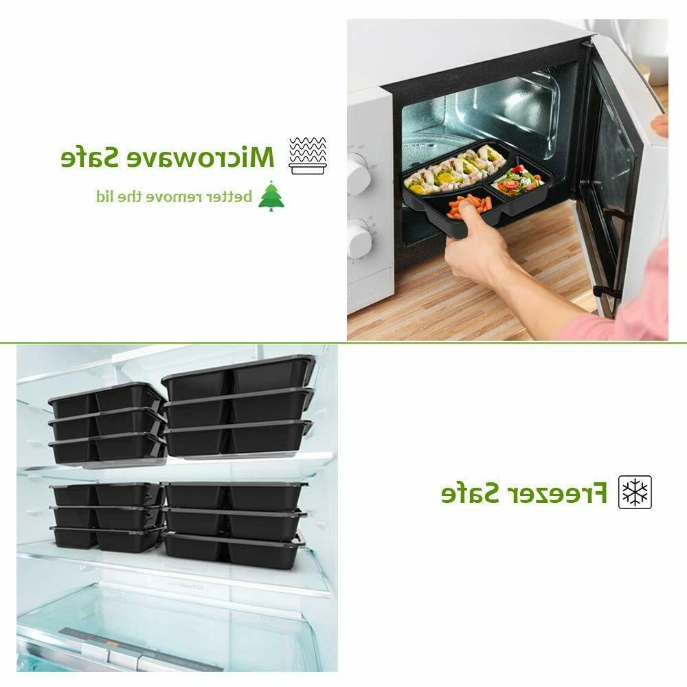 20 3 Compartment with Containers Food Bento Box