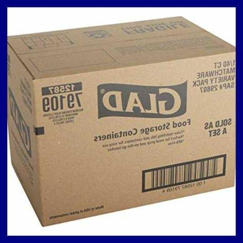 Glad Food Storage Container Pack 20 40