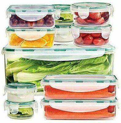 food storage containers set of 11 clear