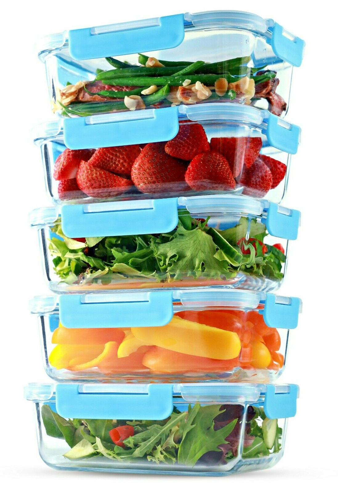 glass food storage containers meal prep containers