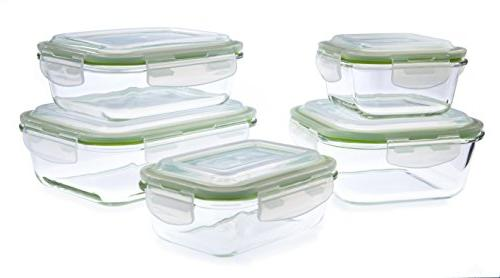 glass food storage containers set