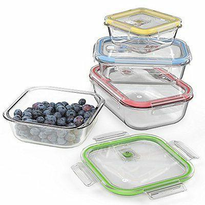 Vremi 18 Piece Food with Locking Lids BPA Free