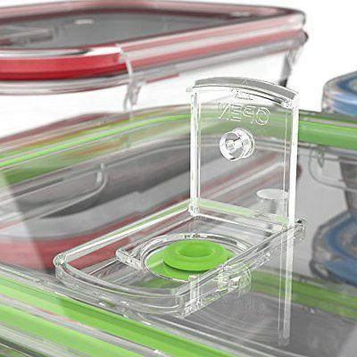 Vremi 18 Food Storage Locking Lids Free