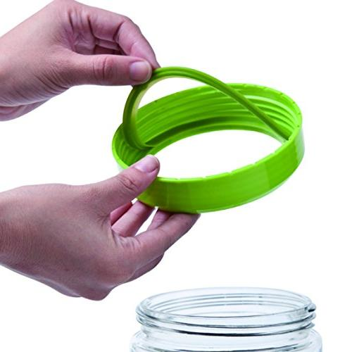 Elemental Kitchen Glass Jar Food Container w/ Measuring Cup Lids Piece Set