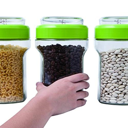 Elemental Kitchen Jar Food w/ Stainless Steel Measuring Cup - Piece