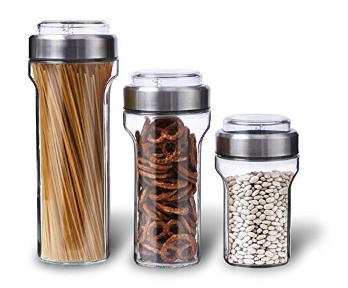 glass jar food storage container
