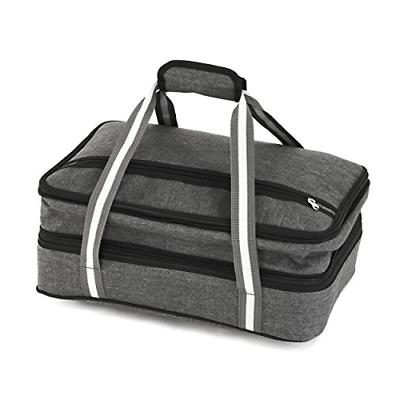 Insulated Carrier for Picnic Potluck Day Trip - Cold Thermal Bag – Tote can hold 11 x or 9 13 dish