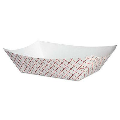 kant leek polycoated paper food tray red