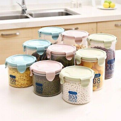 Plastic Air Tight Food Containers Storage Set Clear Home Kit