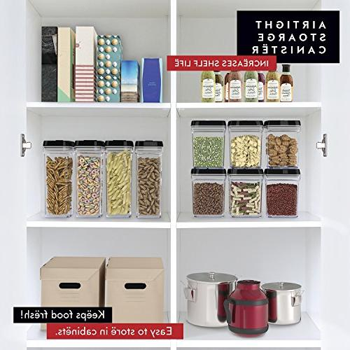 DWËLLZA KITCHEN Same Air Plastic Pantry Kitchen Container for Chips Snacks BPA-Free Fresh Dry