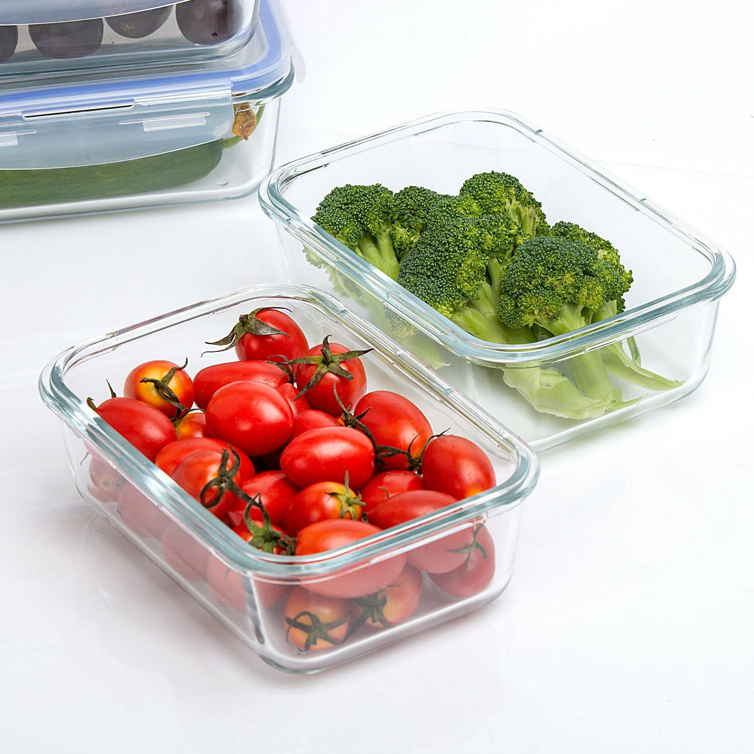 Lunch 10 Oz Glass Food Storage Containers