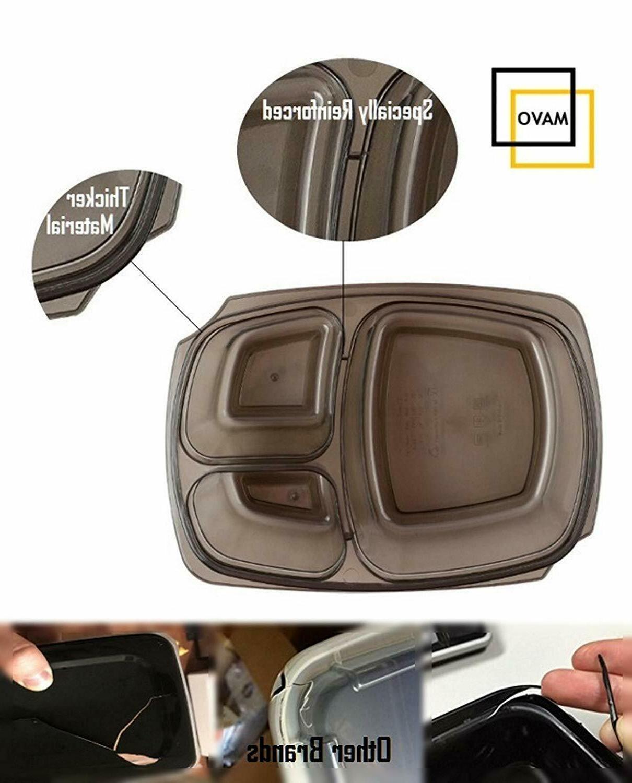 7 Meal Food Plastic Reusable Microwavable