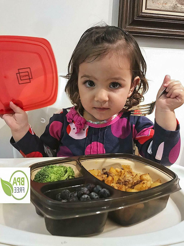 7 Food Storage Plastic Reusable Microwavable
