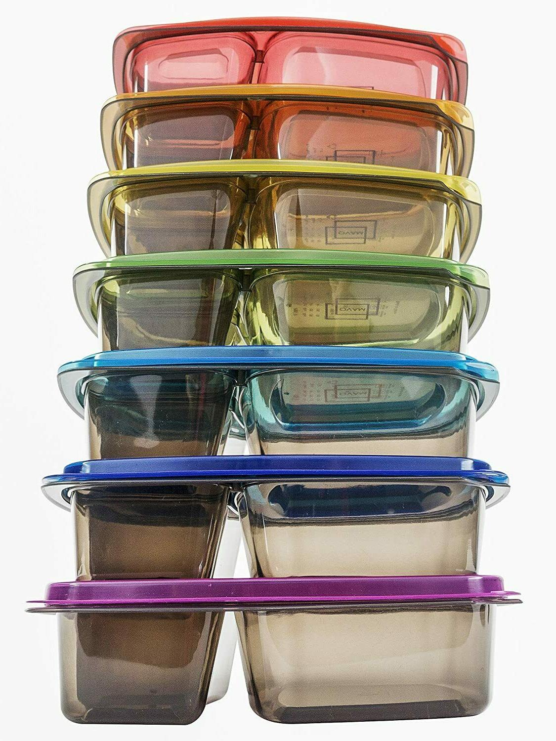 meal food prep containers storage 3 compartment