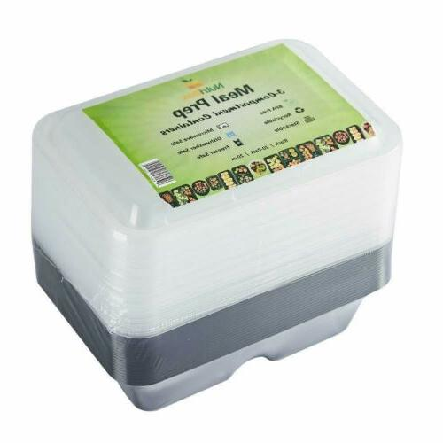 Meal Storage Plastic Compartment With Lids