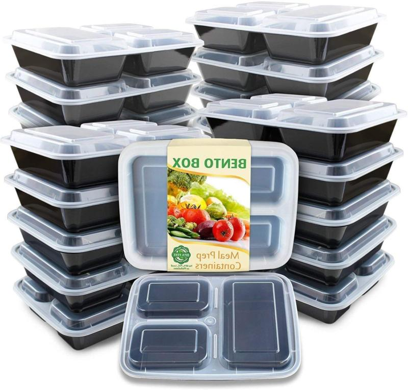 meal prep container compartments with lids food