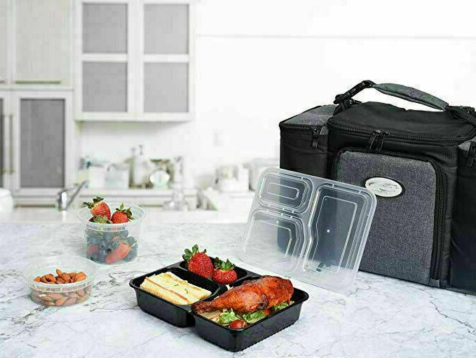 MEAL Safe 3 Compartment Reusable Food 20PACK