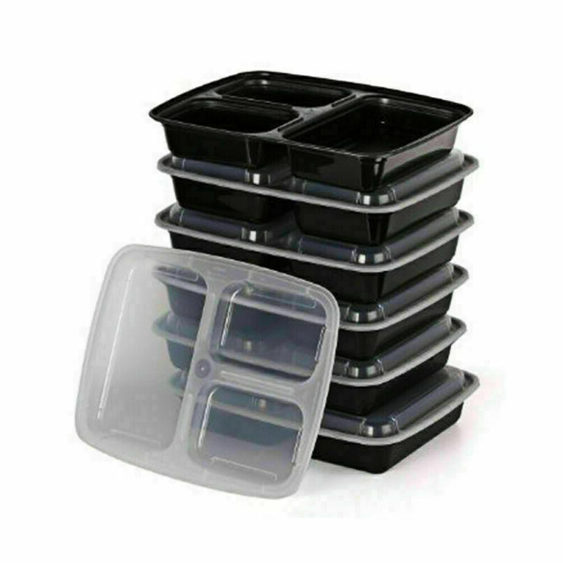 MEAL PREP CONTAINERS Microwave Safe Food