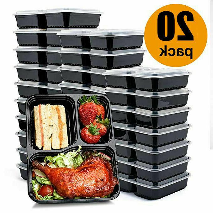 MEAL Microwave Safe 3 Compartment Food