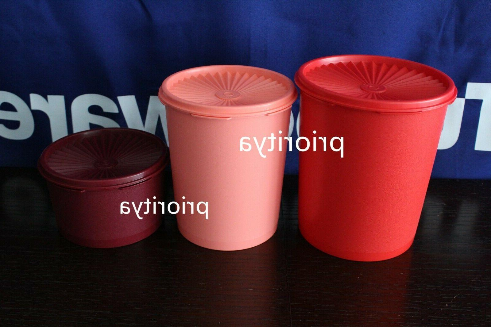 Tupperware Servalier Seal Canister Storage Container Set of 3