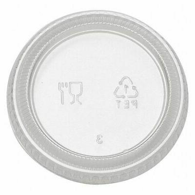 DIXIE PL20CLEAR Portion Cup Lid,Flat, Non Vented,PK24