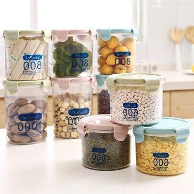 Kitchen Air Tight Food Container Storage Case Plastic Durabl
