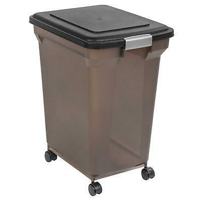 Premium Airtight Pet Cat Dog Food Storage Container, Tan 55-