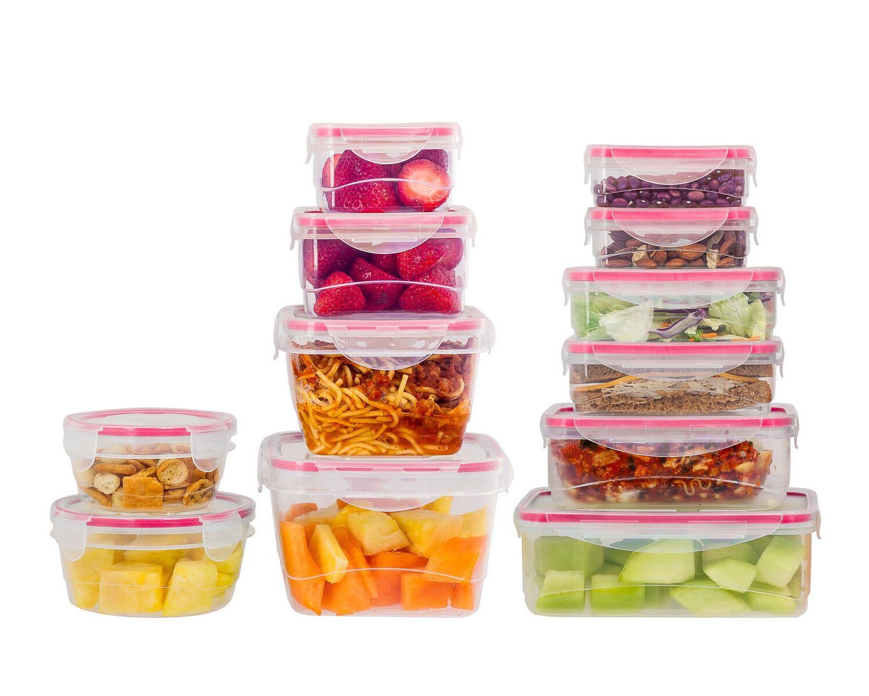 Reusable Plastic Set Plastic Food Storage