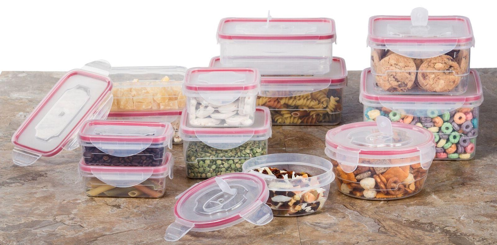 reusable microwave plastic container set 24 plastic