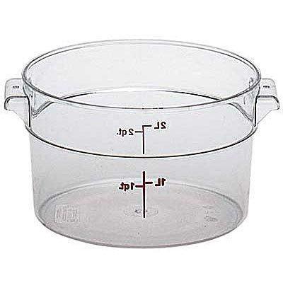 round storage container clear