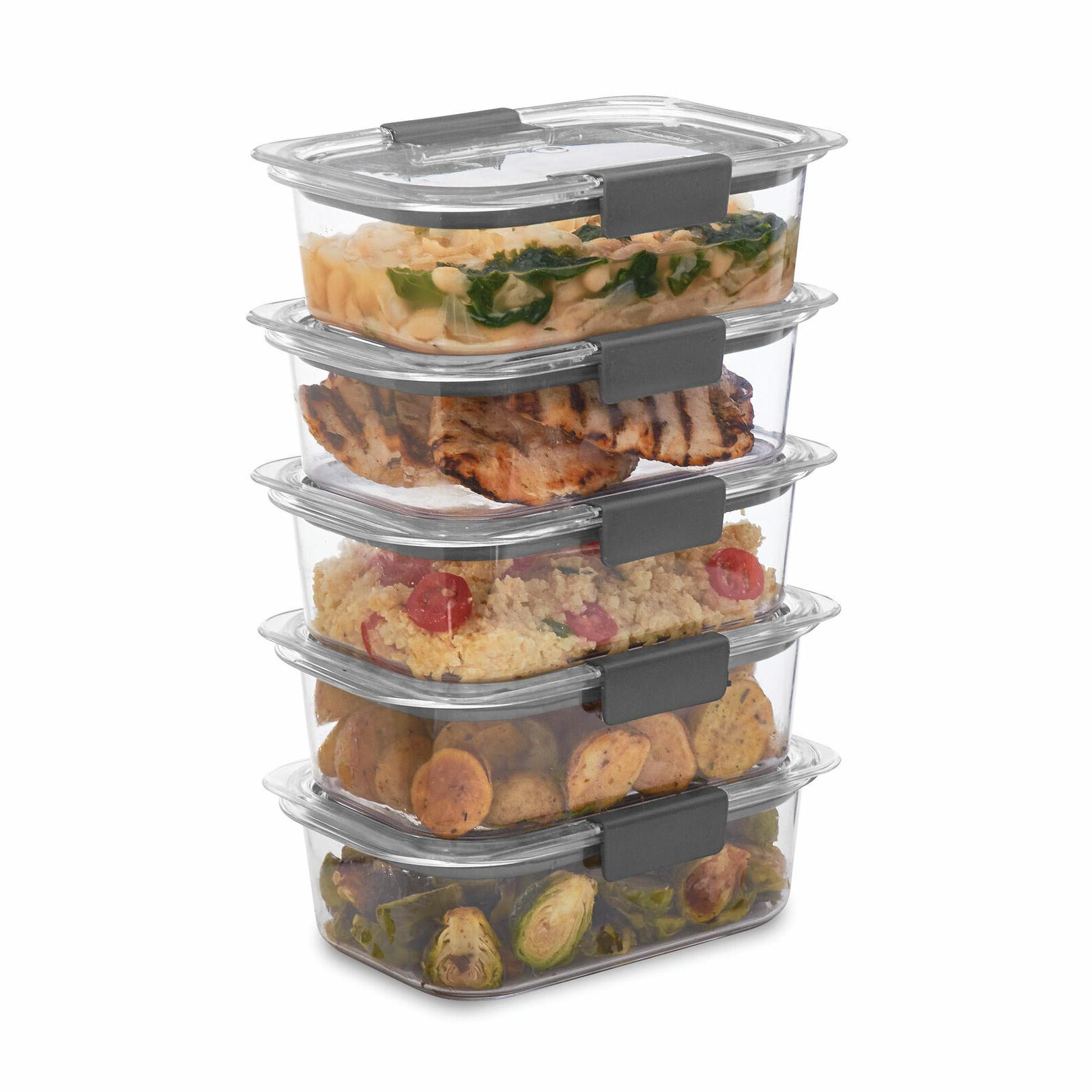 Rubbermaid Brilliance Food Storage Container 3.2Cup 5 Pck St