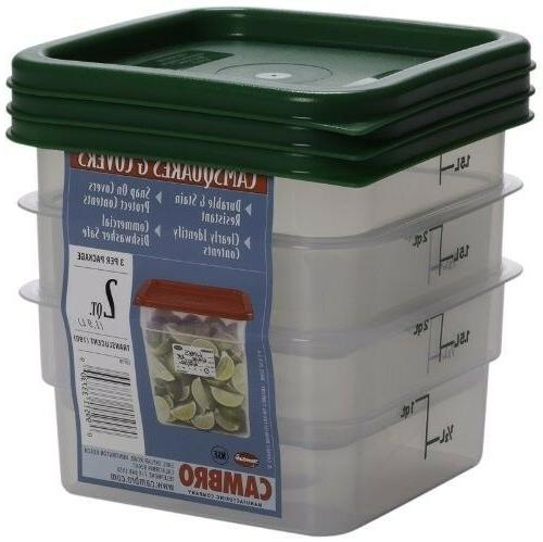 set of 3 square food storage containers