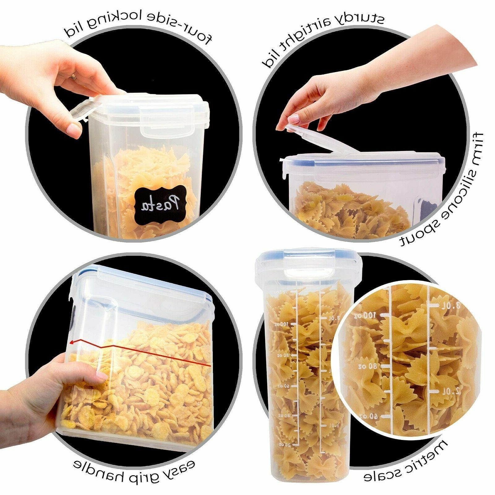 Set of 4 Cereal Container Airtight BPA Free-