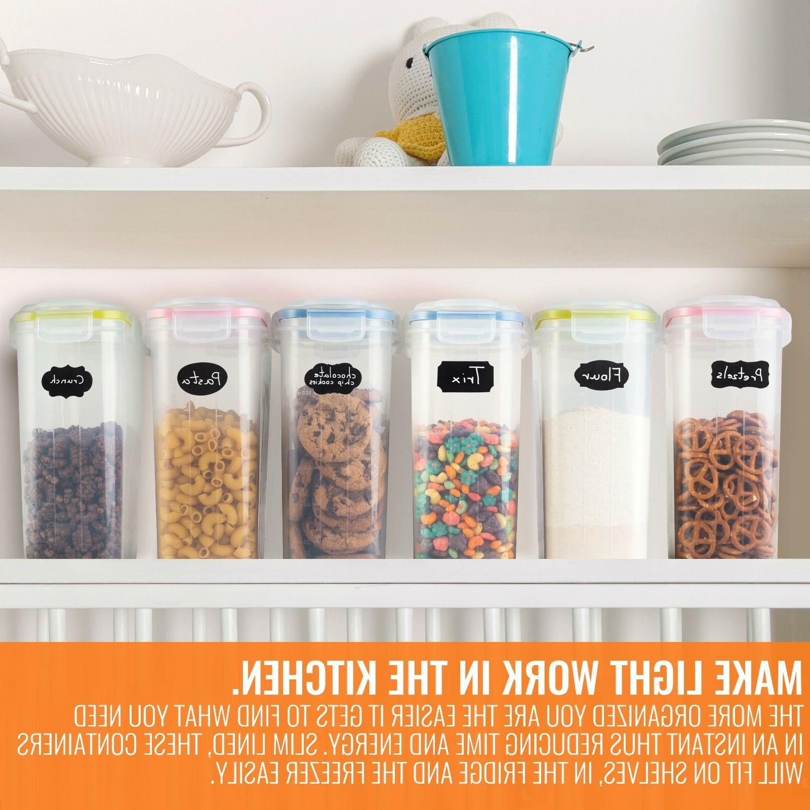 Large Cereal, Food containers Flour, Sugar,