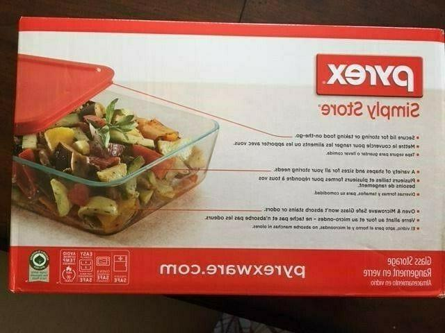 Pyrex Simply Store Food Multi-Colored Lids