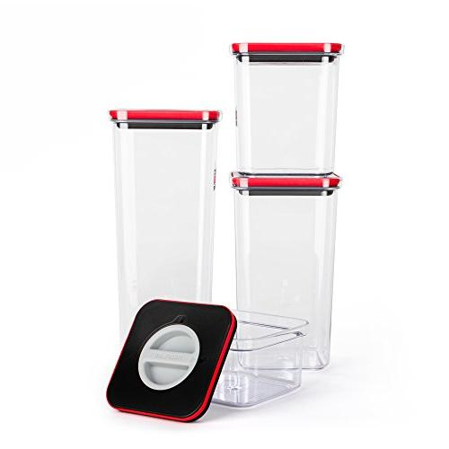Smart Seal Food Storage Container, Set, Nestable, Organizable, free Neoflam