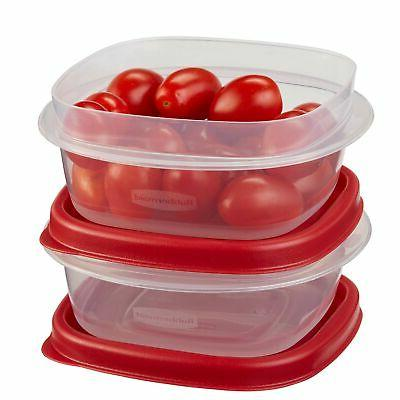 Rubbermaid 1.25 Cup Square Easy Find Lids Container