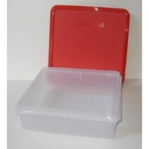 Tupperware Cookie Keeper Storage Container Raspberry Red Seal