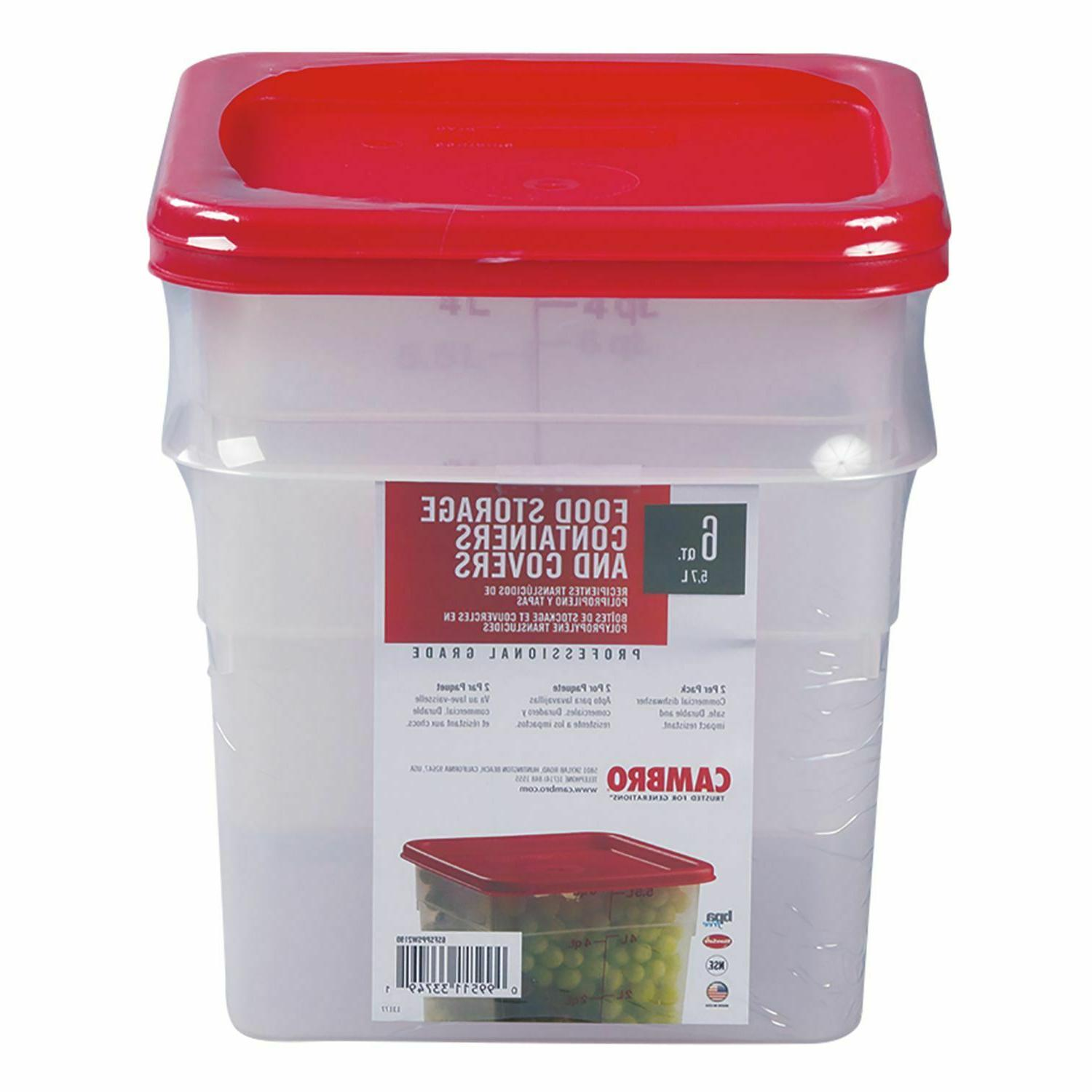 square translucent container with lid 6 qt