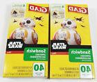 Star Wars Glad Sandwich Zipper Bags 40 Count - 2 New Boxes