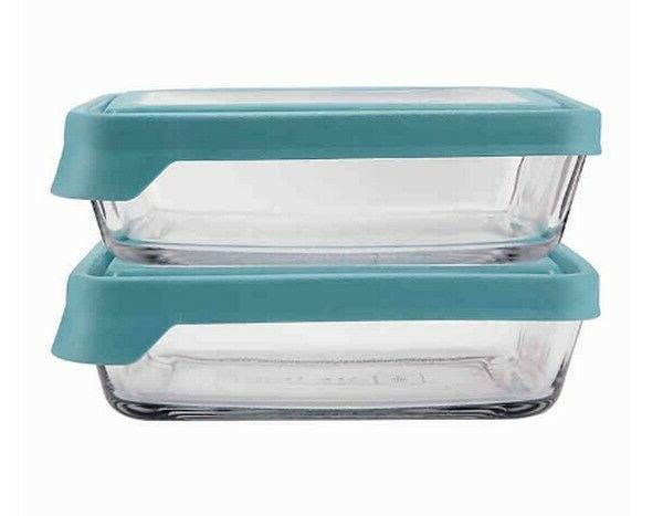 Anchor Hocking True Seal 4 Piece Food Storage Set Glass Cont
