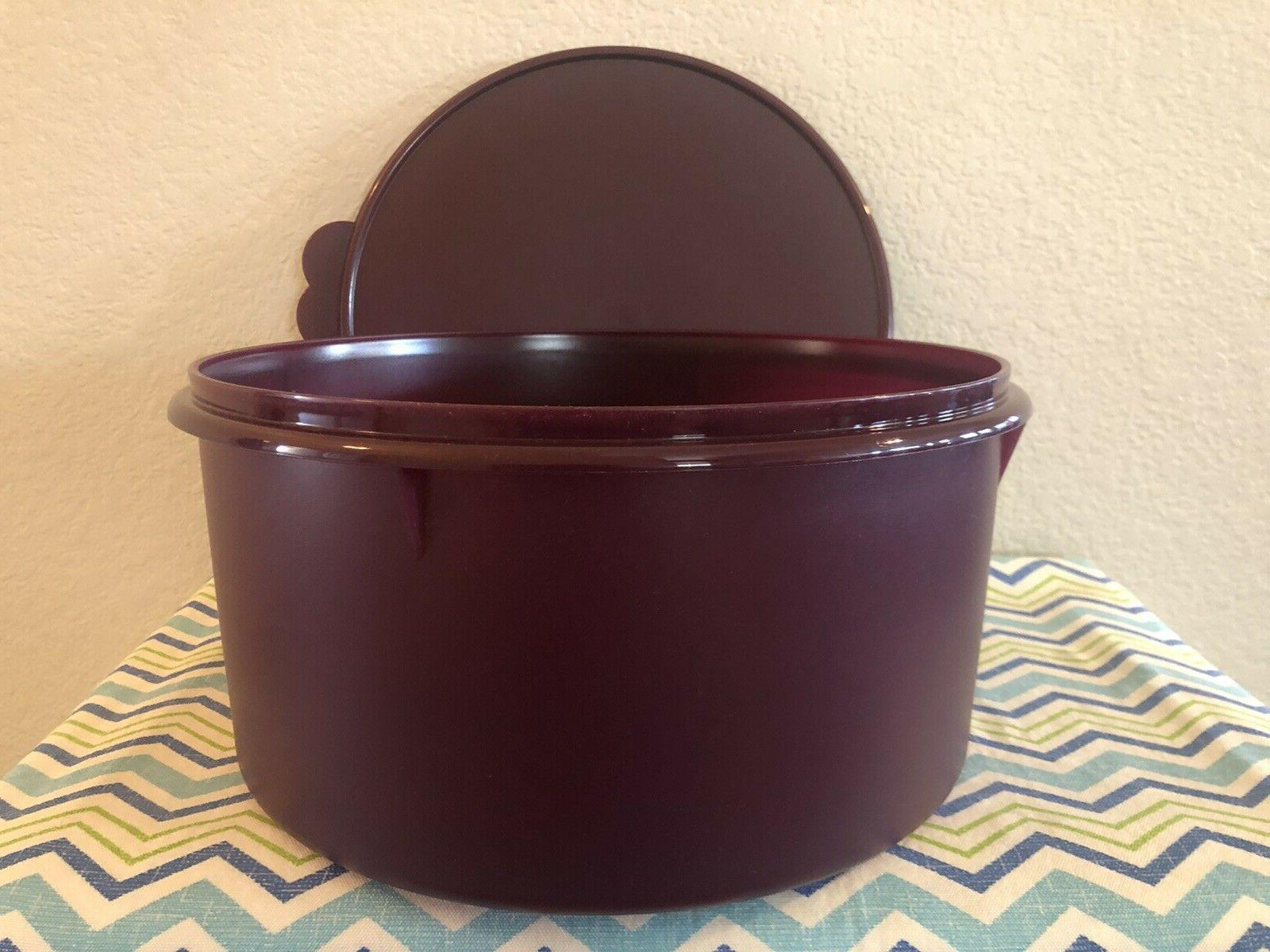 Tupperware Vintage Style Storage Container Plum New