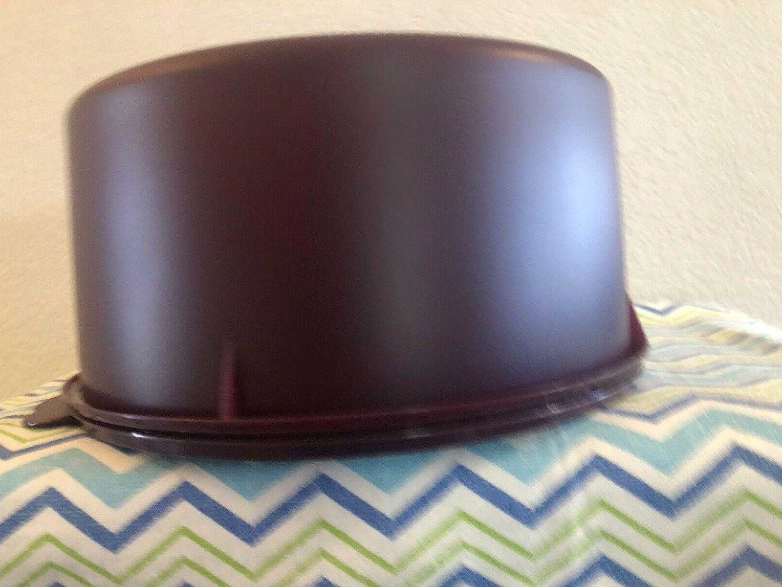 Tupperware Vintage Style Storage Plum New