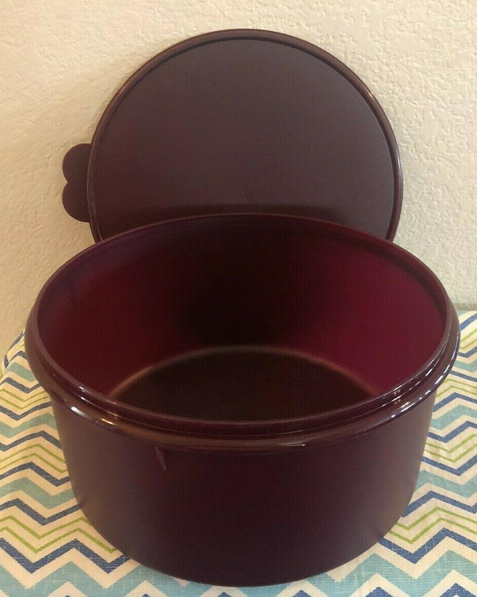 Tupperware Vintage Style Storage Cups Plum