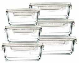 Bayco Large Glass Food Storage Containers With Lids,  Glass