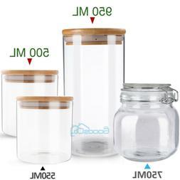 Large Glass Storage Jar With Air Tight Sealed Metal Clamp Li