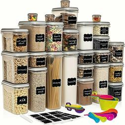 LARGE ORGANIZER FOOD STORAGE AIRTIGHT PANTRY CONTAINERS WITH