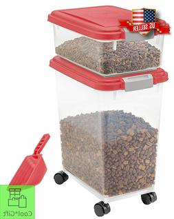 Large Pet Food Storage Container 3-Piece Airtight Bird Cat D