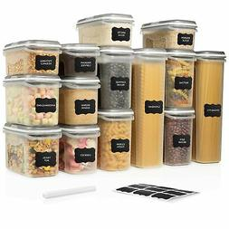 LARGE SET 28 pc Airtight Food Storage Containers with Lids .